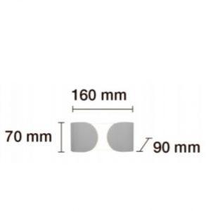 Aplique de pared dos puntos de luz 6W 2.jpg